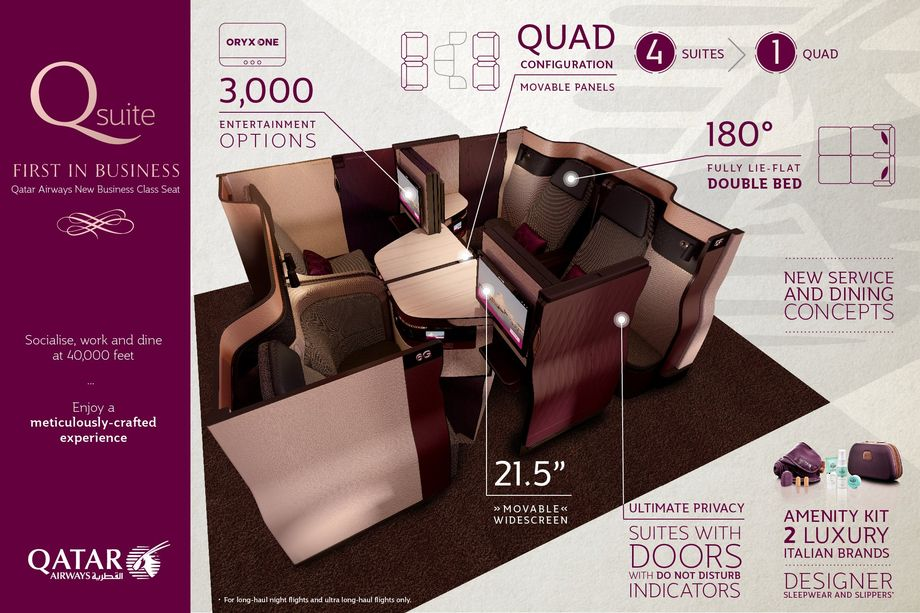 Бизнес-класс Qatar Airways